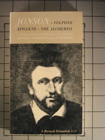 Three Plays Volume Jonson (Mermaid Drama Book, Md8), Ben Jonson
