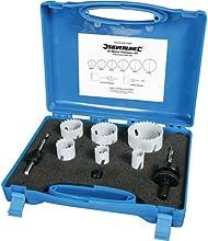 Comprar Silverline 273220 -  Juego de coronas bimetal para electricistas, 9 pzas 18 - 51 mm