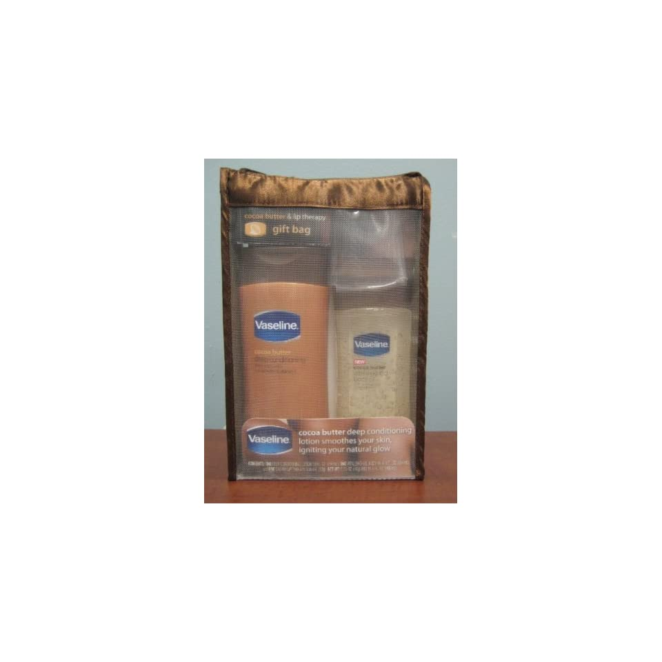 Vaseline Cocoa Butter Body Lotion, Vitalizig Gel & Lip Therapy Gift Bag