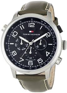 Buy Tommy Hilfiger Mens 1790792 Sport Multi Eye Black Dial Olive Strap Watch by Tommy Hilfiger