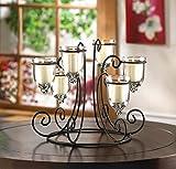 Circular Wrought Iron Stand Chandelier CANDELABRA Candle Holder Wedding Centerpiece