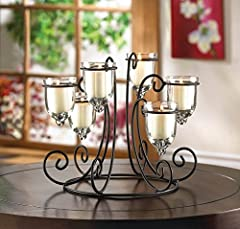 Circular Wrought Iron Stand Chandelier CANDELABRA Candle Holder Wedding Centerpiece