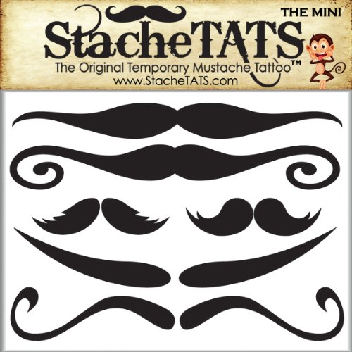 StacheTATS The Mini Temporary Mustache Tattoo - 1