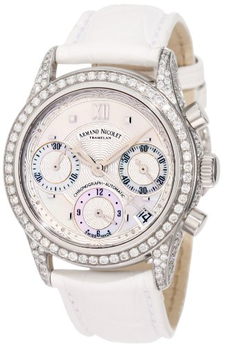 Armand Nicolet Women's 9154V-AN-P915BC8 M03 Classic Automatic Stainless-Steel with Diamonds Watch