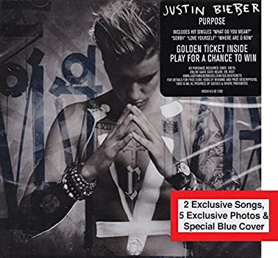 Justin Bieber - Purpose Deluxe Limited Edition with Blue Cover + 2 Exclusive Songs + 5 Exclusive Photos by Justin Bieber