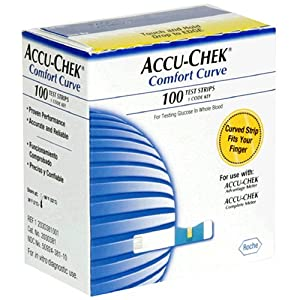Amazon Com Accu Chek Comfort Curve Test Strips 100 Count