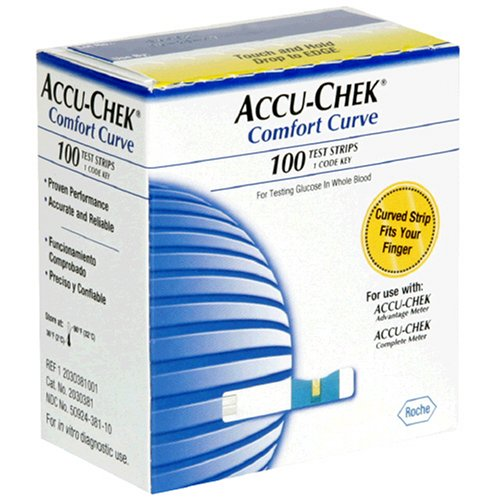 Accu Chek Comfort Curve Test Strips 100 Count Box