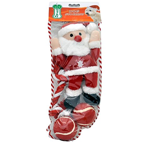 Christmas Stocking Set with Santa (4 toys)