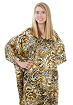 Up2date Fashion Satin Caftan, Beige Animal Print, Style Caf-73