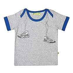 Buzzy Baby-Boys' Cotton T-Shirt (Grey,6-9M)