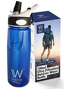 Wasserflasche für unterwegs – Reinigt Wasser durch die Beseitigung von 99,9% aller Bakterien & Parasiten im Wasser.