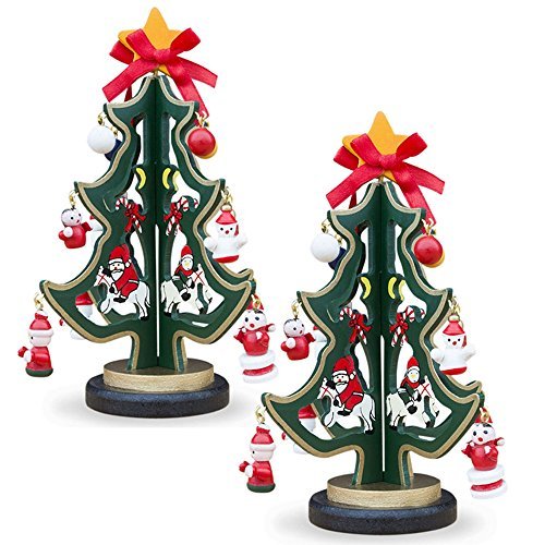 Delightful Set of Two Christmas Trees for Your Dresser