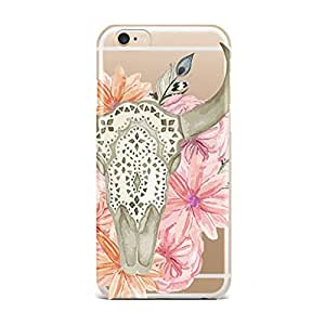 QRIOH iPhone 6S Plus case - Scratchproof Printed Case Abstract Animal And Flower Transparent Case for iPhone 6S Plus Back Cover Case - Premium Quality
