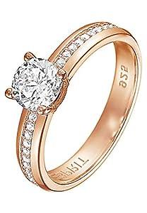 Esprit Jewels Damen-Ring 925 Sterling Silber grace glam rose Gr. 53 (16.9) ESRG91609C170