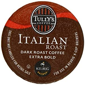 Tully's Coffee Italian Roast, K-Cup for Keurig Brewers, 24-Count (Pack of 2)