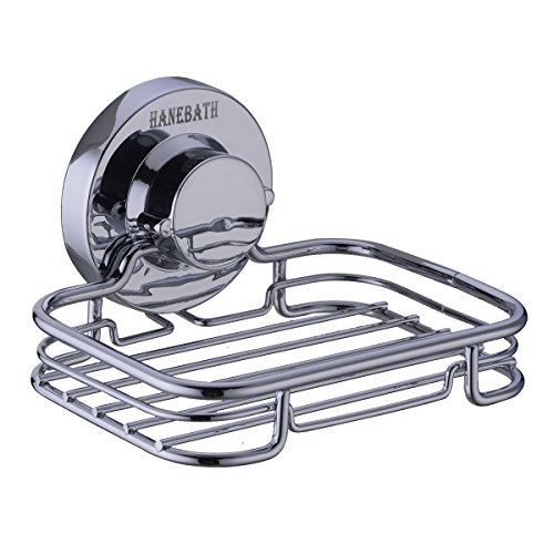 HANEBATH Suction Cup Soap Dish for Bathroom and Kitchen - Strong Stainless Steel ,Chrome (Soap Dish For Shower Suction compare prices)