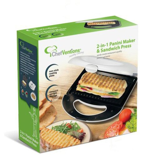 ChefVentions 2-in-1 Panini Maker & Sandwich Press