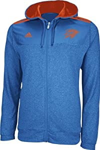 Oklahoma City Thunder Adidas 2012 Pre-Game On Court Full Zip Hooded Sweatshirt Jacket