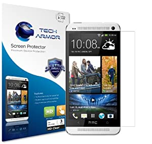 Tech Armor HTC One High Defintion (HD) Clear Screen Protectors -- Maximum Clarity and Touchscreen Accuracy [3-Pack] Lifetime Warranty
