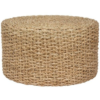 Oriental Furniture Rush Grass Knotwork Coffee Table/Ottoman, Natural