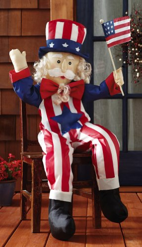 Patriotic 4th of July Stuffable Uncle Sam Porch Greeter 40