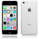 (Accessories) iPhone 5C Clear Frosted Gloss TPU Gel Case Silicone Jelly Skin Cover
