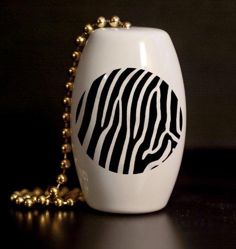 Zebra Stripe Print Porcelain Fan / Light Pull front-941285