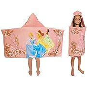 Disney Princess Hooded Towel Cinderella, Belle, Tiana