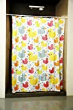 Obsessions Glam Printed Polyester Shower Curtain with Hook - White Printed with Duck