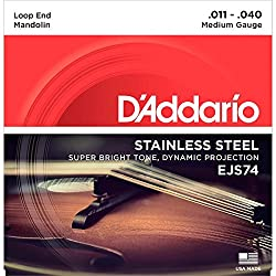 D'Addario EJS74 Mandolin Strings, Stainless Steel, Medium