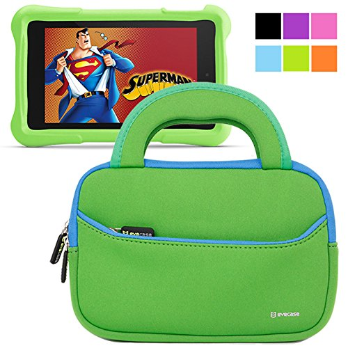 Buy Bargain Evecase Fire HD Kids Edition Tablet Sleeve, Ultra Portable Handle Carrying Portfolio Neo...