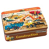 Construction 100 Piece Puzzle Tin