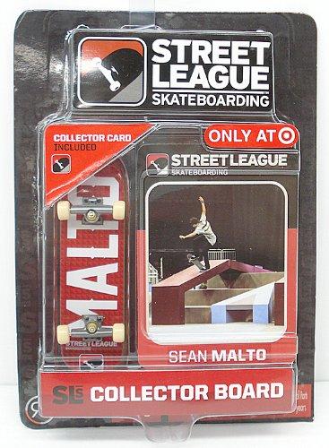 Street League Skateboarding Pro Series 1 Red Skateboard & Sean Malto Collector Card Target Exclusive - 1