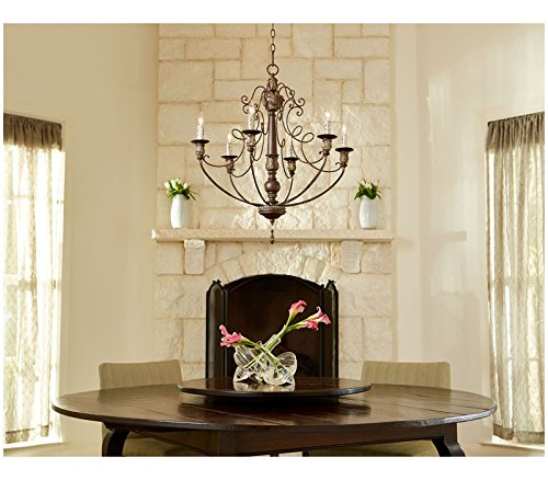 Quorum Lighting 6006-6-39, Salento 1 Tier Chandelier Lighting, 6LT, 120 Watts, Vintage Copper 1