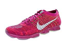 Nike Women\'s Flyknit Zoom Agility Frbrry/White/Hypr Pnch/Rspbrry Training Shoe 9 Women US