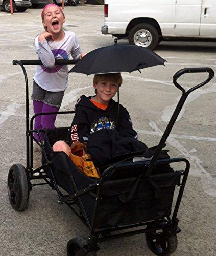 Go-Go Babyz Double Wagon Stroller, Black