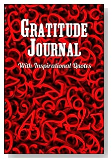 Gratitude Journal With Inspirational Quotes - Perfect for the math or numbers lover! Red numbers all in a jumble cover this 5-minute gratitude journal for busy people.