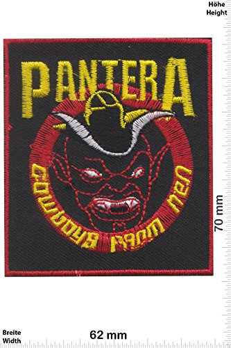 "Patch - Pantera - rot - Devil - Musica - Pantera - Pantera- toppa - applicazione - Ricamato termo-adesivo - Patch"""
