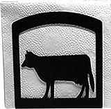 Iron Cow Table Napkin Holder - Black Metal