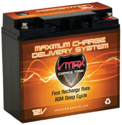 Vmax600 Agm Group 1/2 U1 Deep Cycle Battery Replacement For Drive Daytona 4 Gt - S45002Gt 12V 20Ah Wheelchair Battery