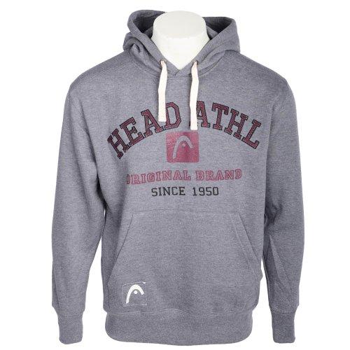 Head Men's Grey Logo Hooded Fleece Sweatshirt in Size Large