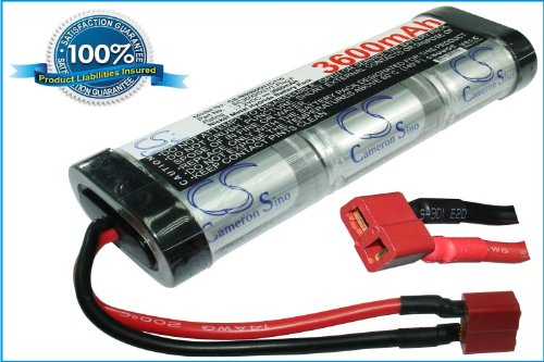 7.2V 3600mAh Battery For RC Cars w/Deans / T-Plug Connector