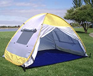 BEAUTIFUL POP UP FAMILY CABANA TENT SUN WIND SHELTER BEACH TENT