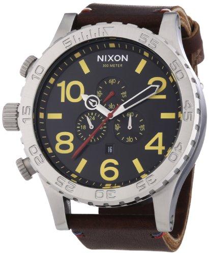 Nixon A124-1019 The 51-30 Chrono Leather Black Brown Watch