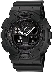 Casio Men's GA100-1A1 Black Resin Quartz Watch with Black Dial [Watch] Casio
