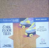 CORK EXTRA THICK TILES 4.75mm READYSEALED 300 X 300mm PACK 9 TILES