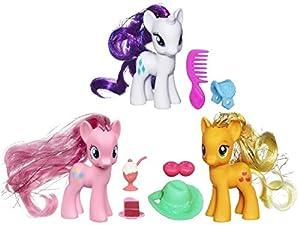 MLP My Little Pony Friendship Is Magic Crystal Empire Wave 2 (Set of 3) - Rarity / Pinkie Pie / Applejack