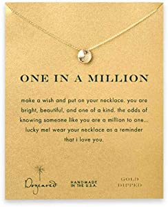 Dogeared One in a Million Sand Dollar Necklace, Gold Dipped: Amazon.co ...