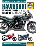 Kawasaki EX500 (GPZ500S) 1987 - 99 and ER500 (ER-5) 1987-99 Haynes Service and Repair Manual Alan Ahlstrand