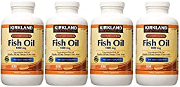 Kirkland Signature, Fish Oil 1000 mg hovfe 400 Softgels (Pack of 4)